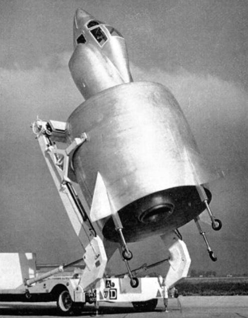 VTOL francés de impresionante aspecto pero poca efectividad, un pájaro sin igual de 1959. (US Navy).