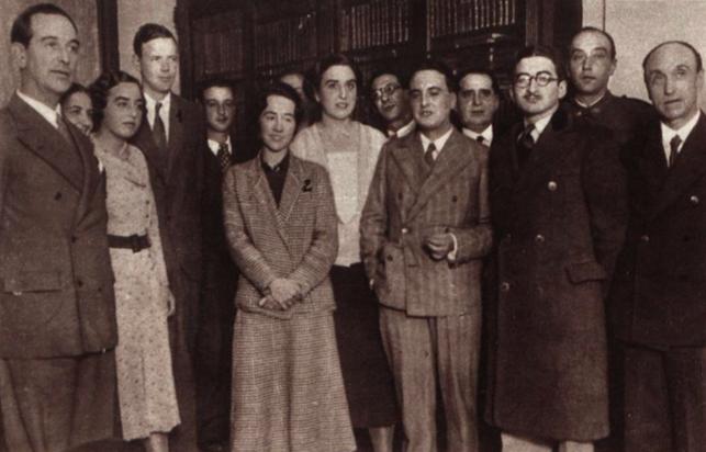 Los Lindbergh con la familia Albo.
